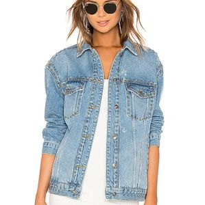 Free People Studded Trucker Jacket